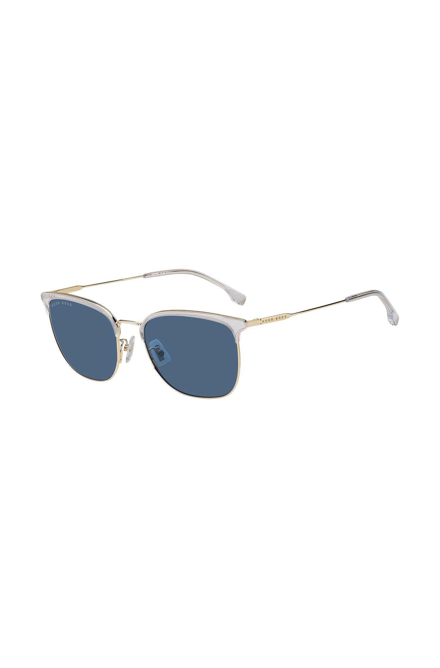 Hybrid-Sonnenbrille aus goldfarbenem Stahl und Kristallacetat, Assorted-Pre-Pack