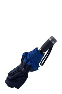 Pocket umbrella with blue border, Dark Blue