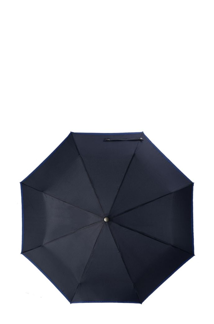 Pocket umbrella with blue border