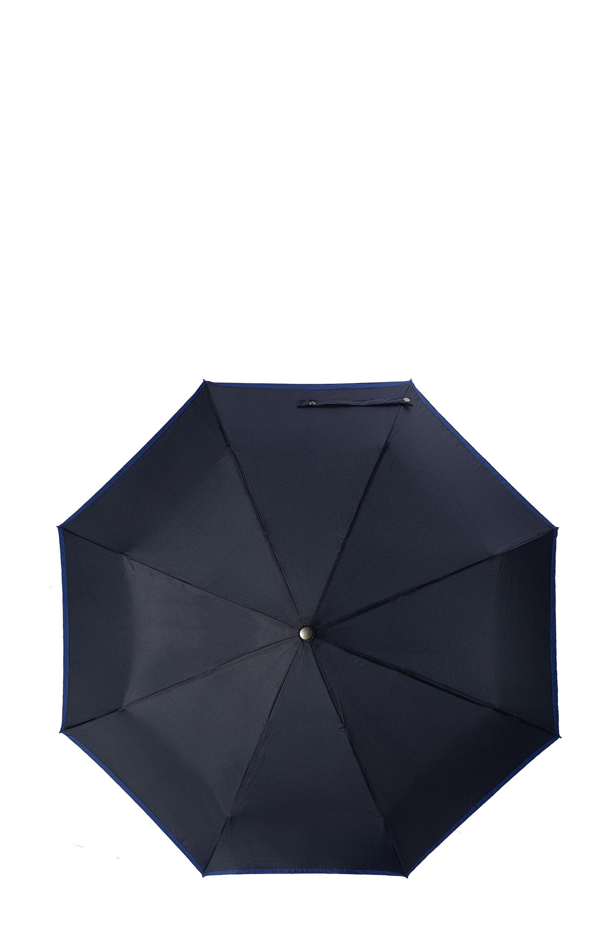 Pocket umbrella with blue border