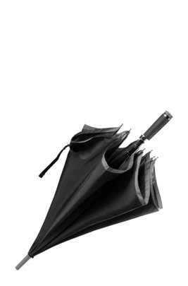 Automatic-release umbrella with grey border, Black