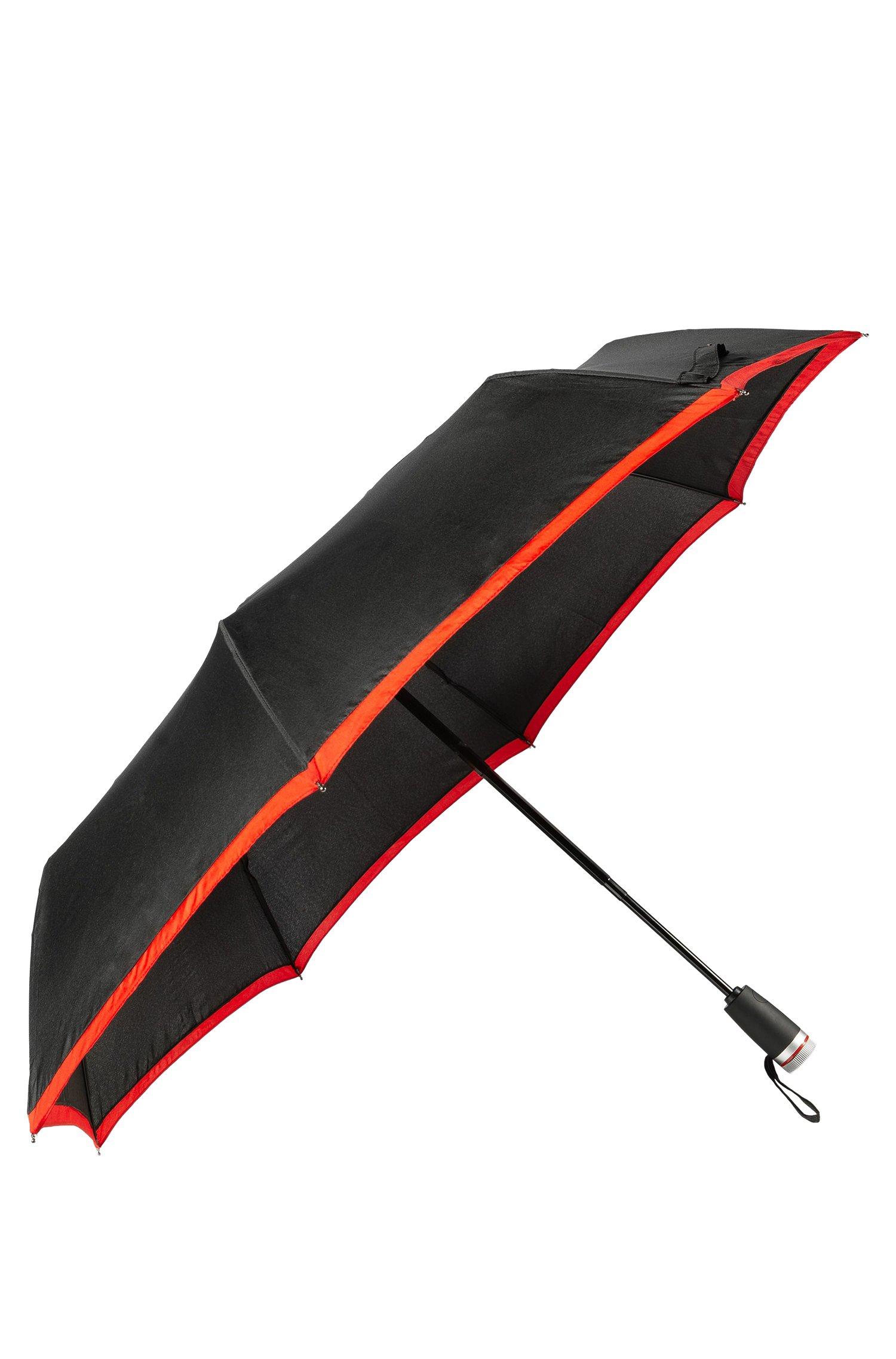 Pocket umbrella with red border, Black