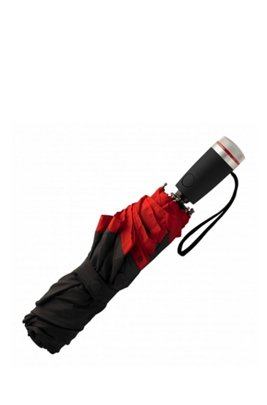 Pocket umbrella with red border, Black