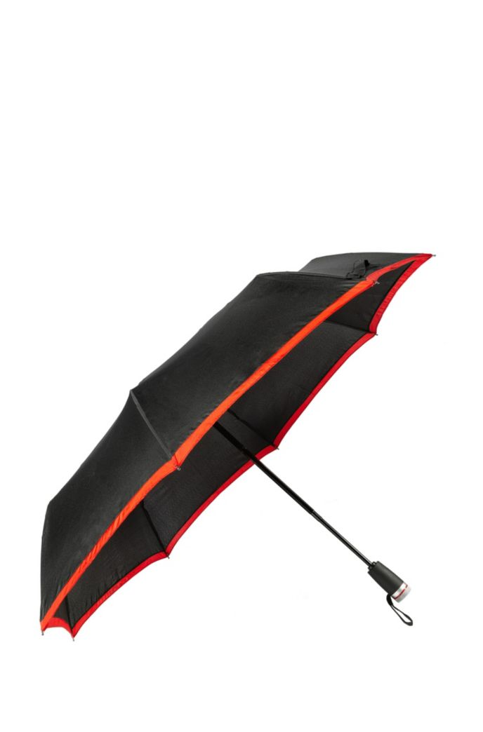 Pocket umbrella with red border