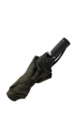 Khaki pocket umbrella with black border, Black