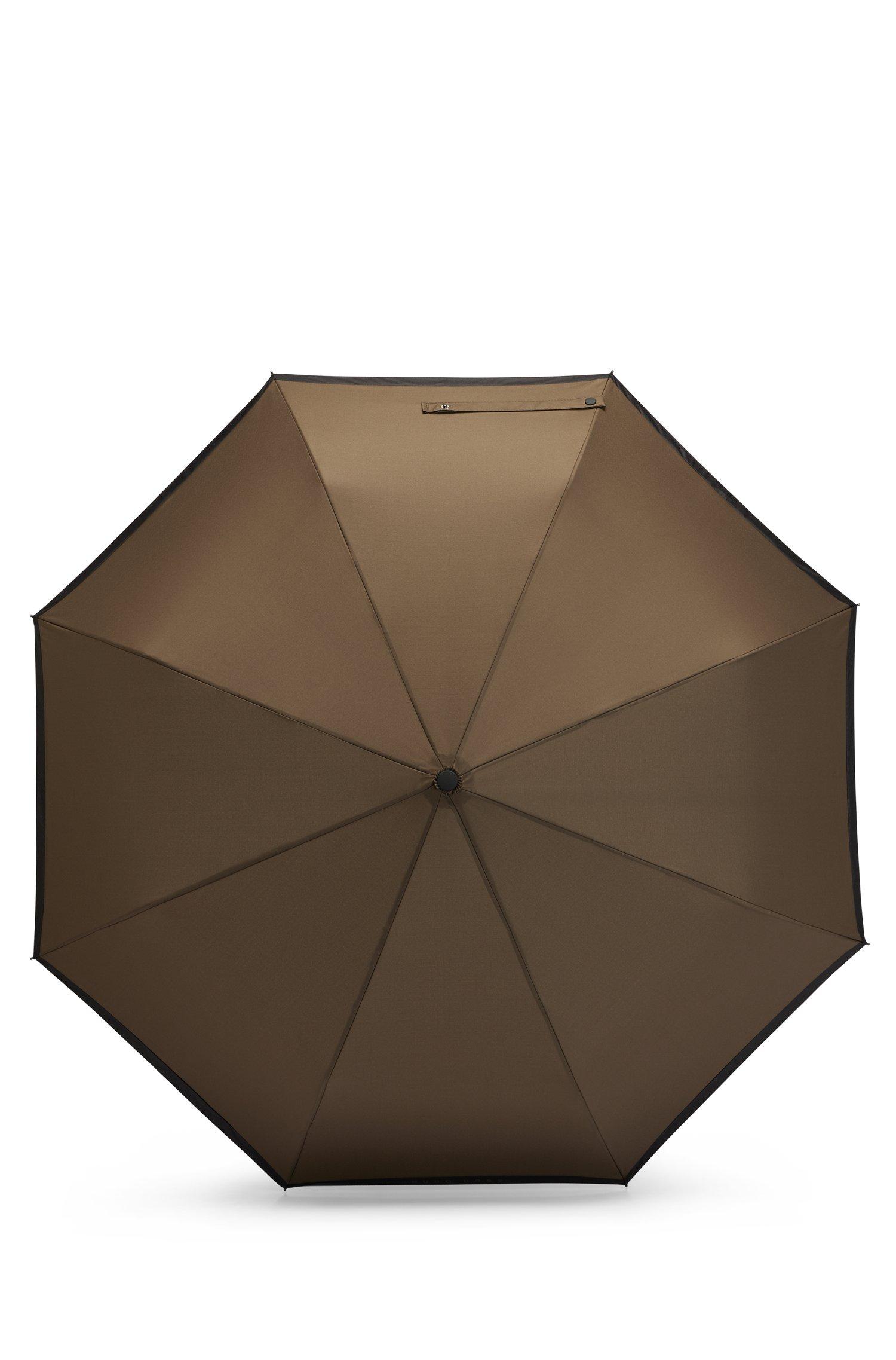 Khaki pocket umbrella with black border, Black