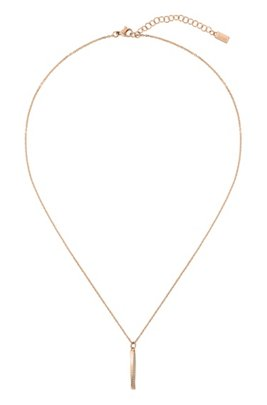 Twisted-pendant necklace with gold finish and Swarovski® crystals, Assorted-Pre-Pack