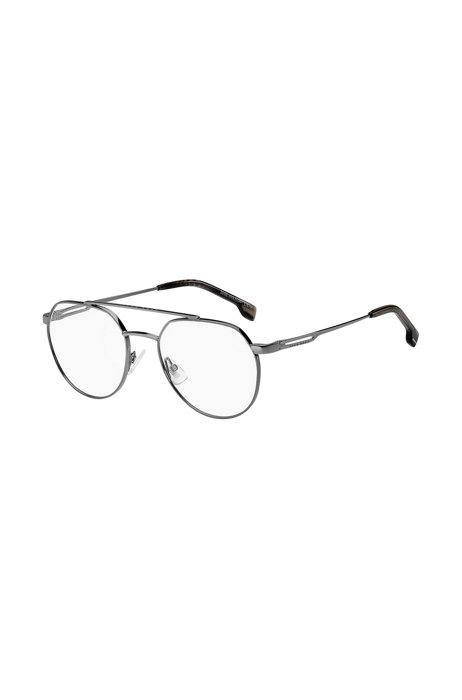 Montuur met dubbele neusbrug en cut-out pootjes voor een optische bril, Assorted-Pre-Pack