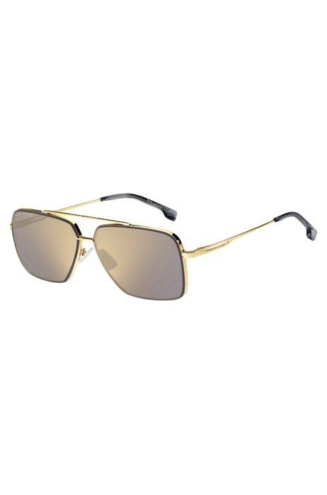 Gafas de sol de metal dorado con patillas de horquilla, Assorted-Pre-Pack