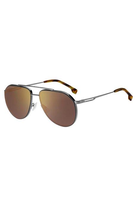 Sonnenbrille mit Aussparungen an den Bügeln und Enden mit Havanna-Muster, Assorted-Pre-Pack