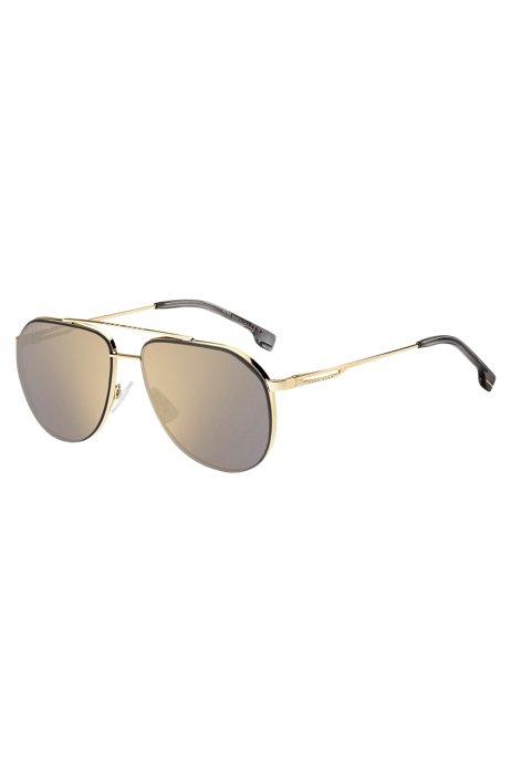 Gafas de sol de puente doble con patillas de horquilla., Assorted-Pre-Pack