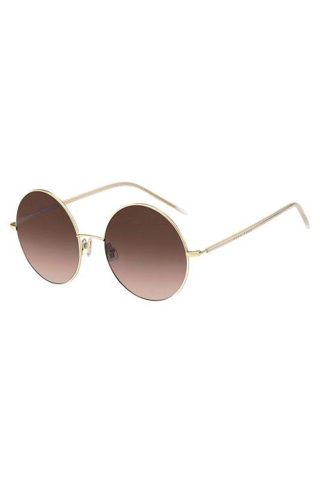 Gafas de sol redondas en titanio dorado, Assorted-Pre-Pack