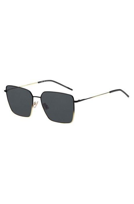 Sonnenbrille mit röhrenförmigen Bügeln und Farbverlauf in Schwarz-Gold, Assorted-Pre-Pack