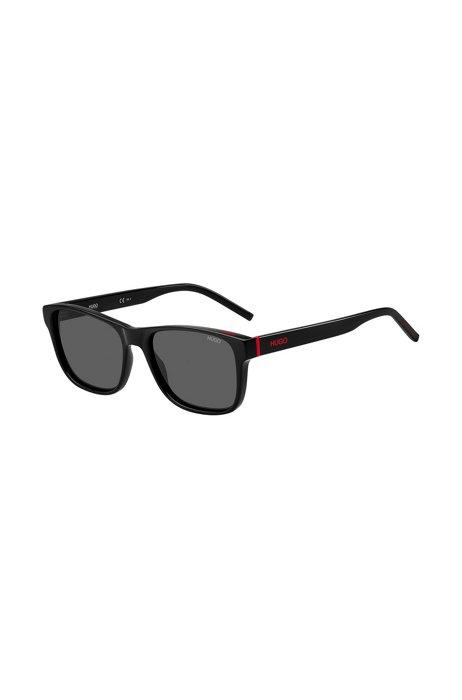 Sonnenbrille aus schwarzem Acetat mit rotem Logo, Assorted-Pre-Pack
