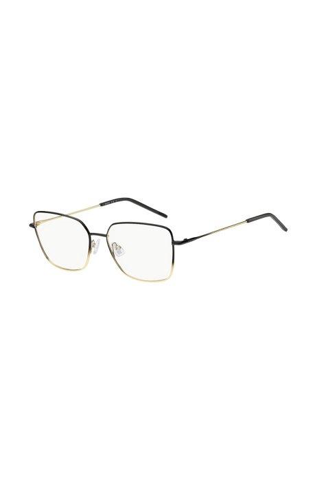Montuur voor een optische bril van licht staal met ombrédetail , Assorted-Pre-Pack