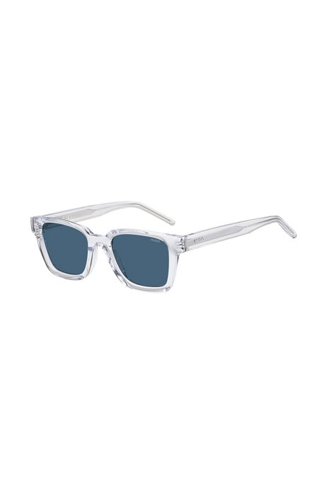 Occhiali da sole in acetato trasparente con lenti blu, Assorted-Pre-Pack