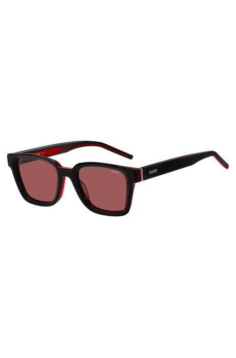 Gafas de sol de acetato en negro y rojo, Assorted-Pre-Pack