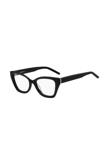 Brillenfassung aus schwarzem Acetat mit tonalen Logos, Assorted-Pre-Pack