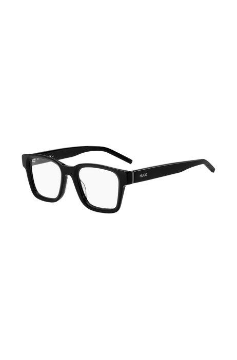 Occhiali da vista in acetato nero con aste con logo, Assorted-Pre-Pack