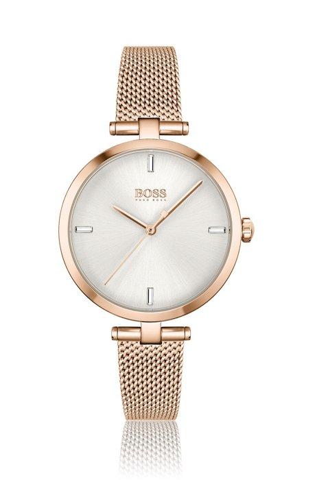 Horloge met lichtgoudkleurig effect en uuraanduidingen van kristallen, Assorted-Pre-Pack