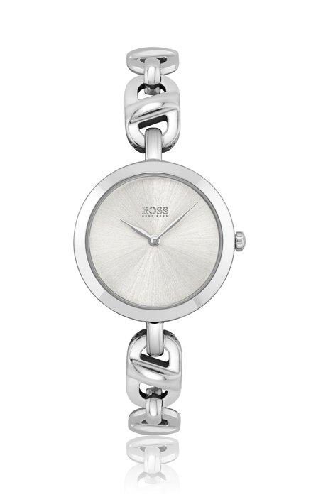 Uhr aus Edelstahl mit Gliederarmband, Assorted-Pre-Pack