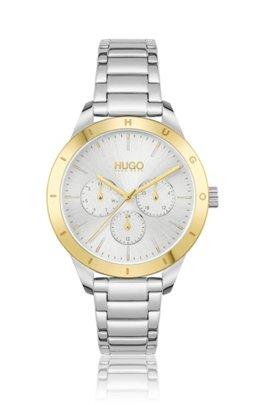 Link-bracelet watch with gold-tone logo bezel, Assorted-Pre-Pack