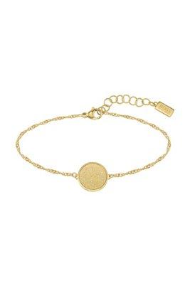 Bracelet en métal doré avec médaillon en acier effet givré, Assorted-Pre-Pack