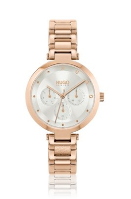 Carnation-gold-effect watch with branded H-link bracelet, Assorted-Pre-Pack