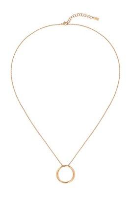 Collier à effet doré avec pendentif anneau torsadé, Assorted-Pre-Pack