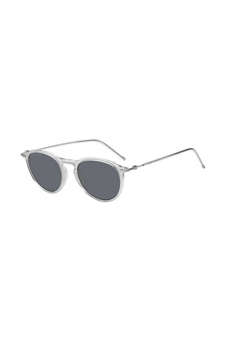 Clear-acetate sunglasses with plastic sleeves, Assorted-Pre-Pack