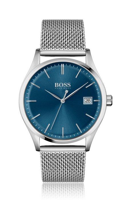 Uhr mit Mesh-Armband und blauem Zifferblatt, Assorted-Pre-Pack