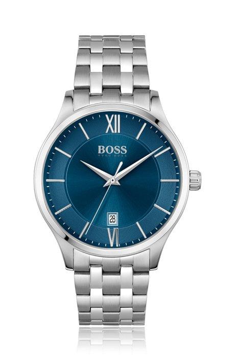 Reloj con esfera azul y pulsera de cinco eslabones, Assorted-Pre-Pack