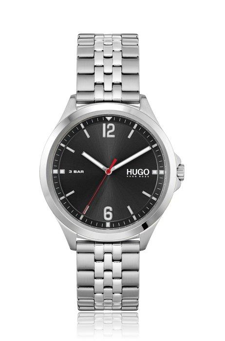 Uhr mit fünfgliedrigem Armband und schwarzem Zifferblatt, Assorted-Pre-Pack