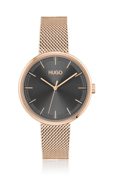 Orologio placcato color oro rosa chiaro con quadrante grigio, Assorted-Pre-Pack