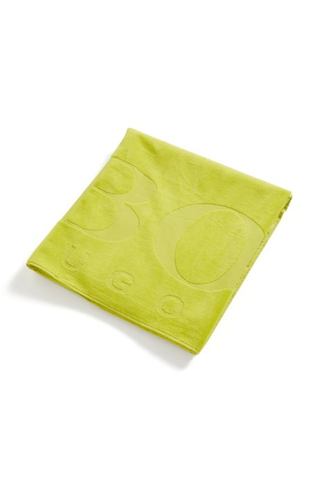 Beach towel soft cotton with logo, Green