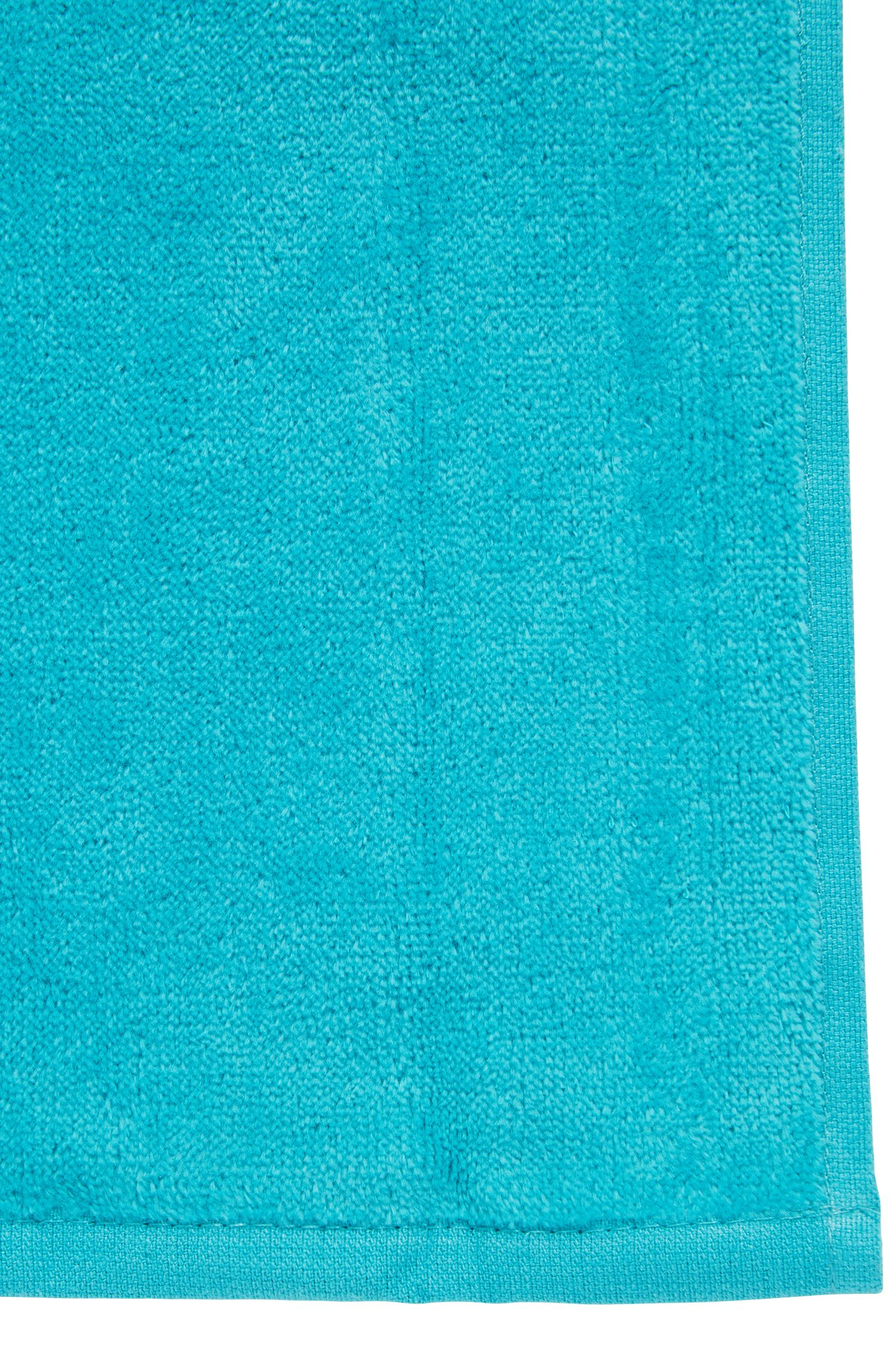 Beach towel soft cotton with logo, Turquoise