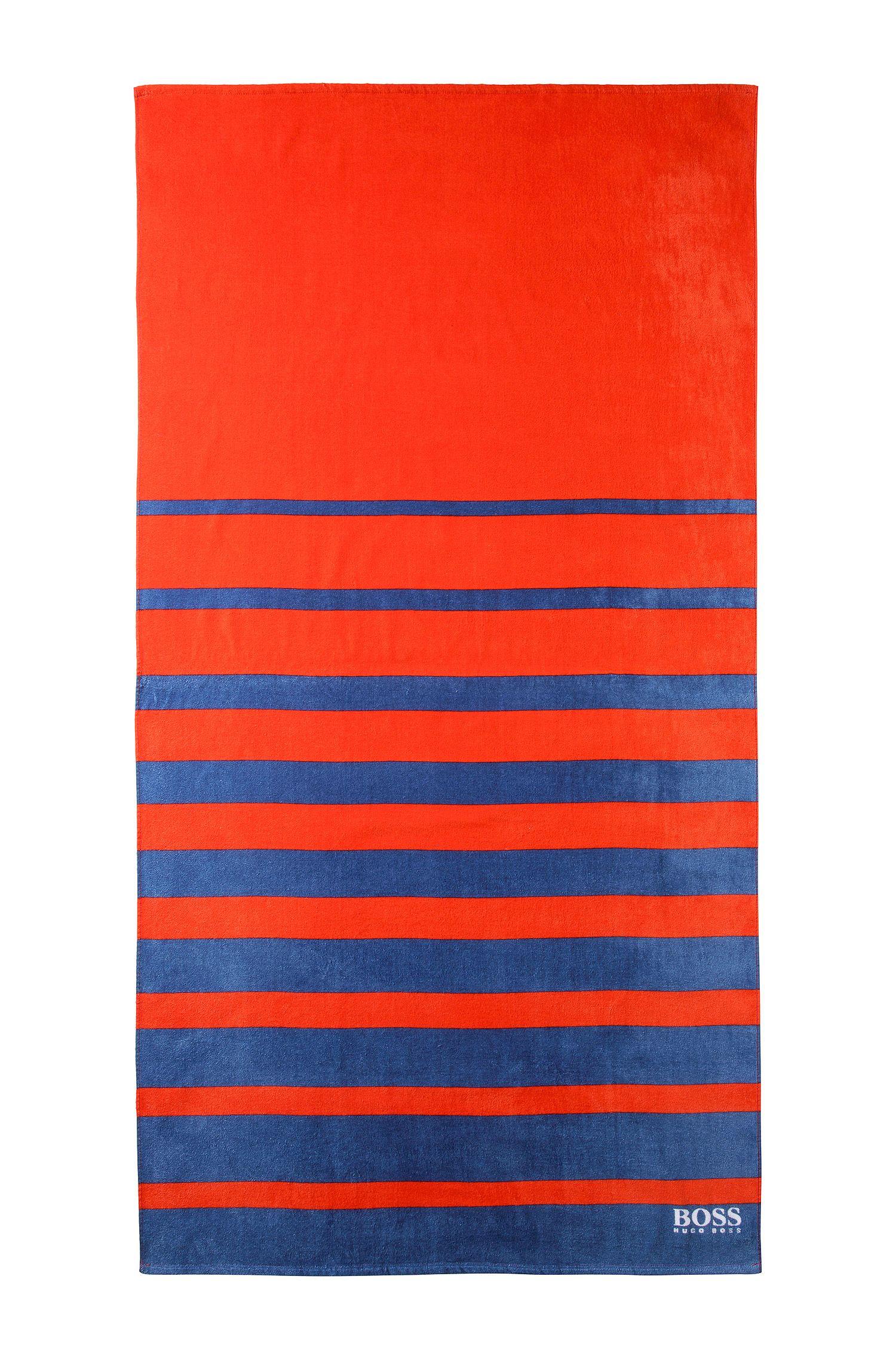 Serviette de plage «BEAT-VARISTRIPE» en maille de coton éponge
