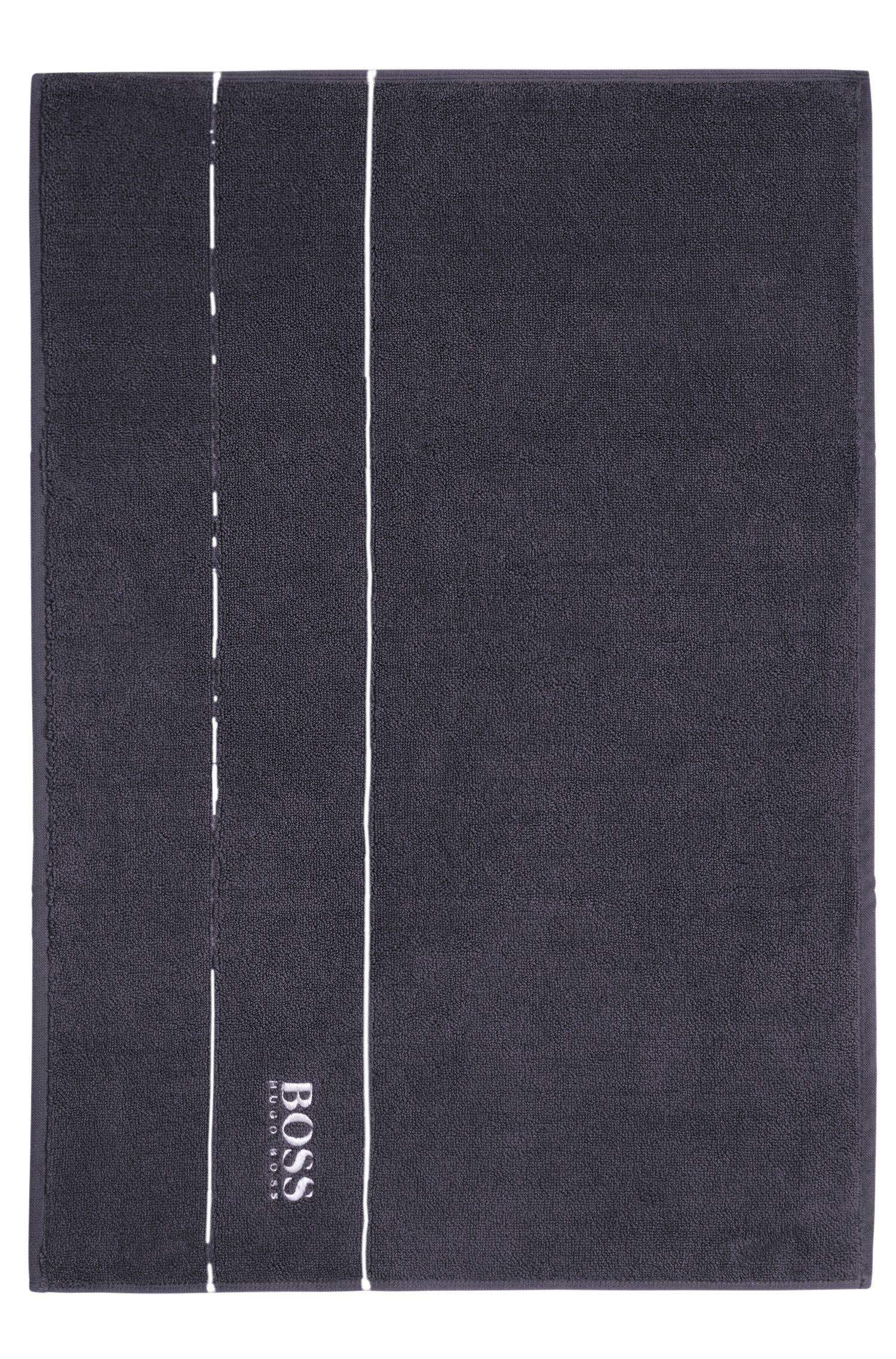 Alfombrilla de baño en algodón egipcio de la máxima calidad con logo en el borde, Gris marengo