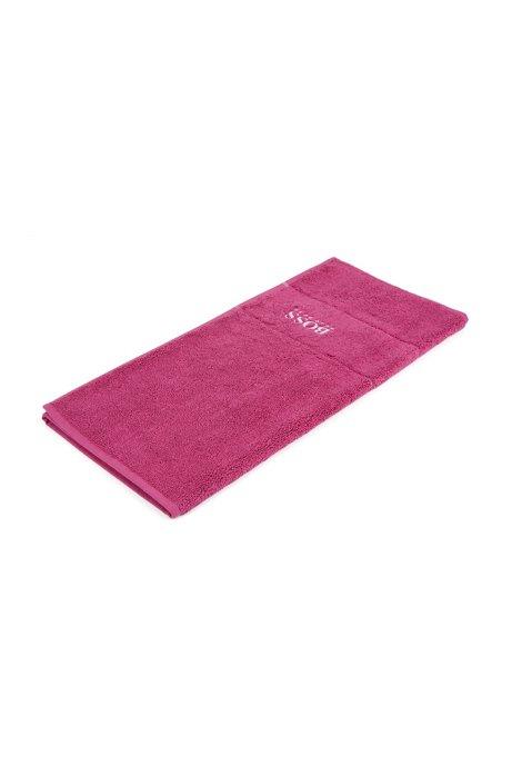 Badematte aus feinster ägyptischer Baumwolle mit Logo-Bordüre, Pink