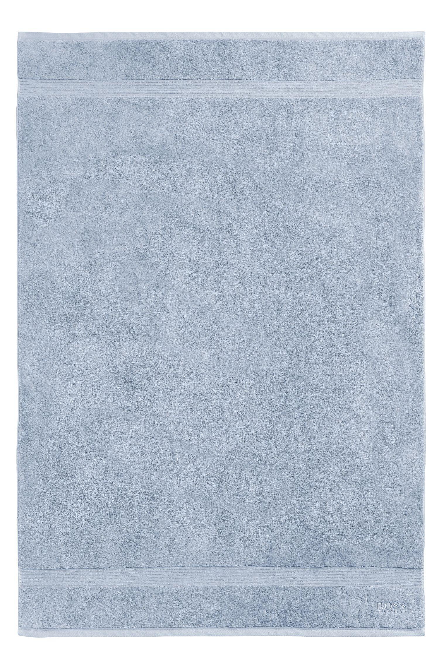 Serviette de bain en coton peigné de la mer Égée avec bordures côtelées