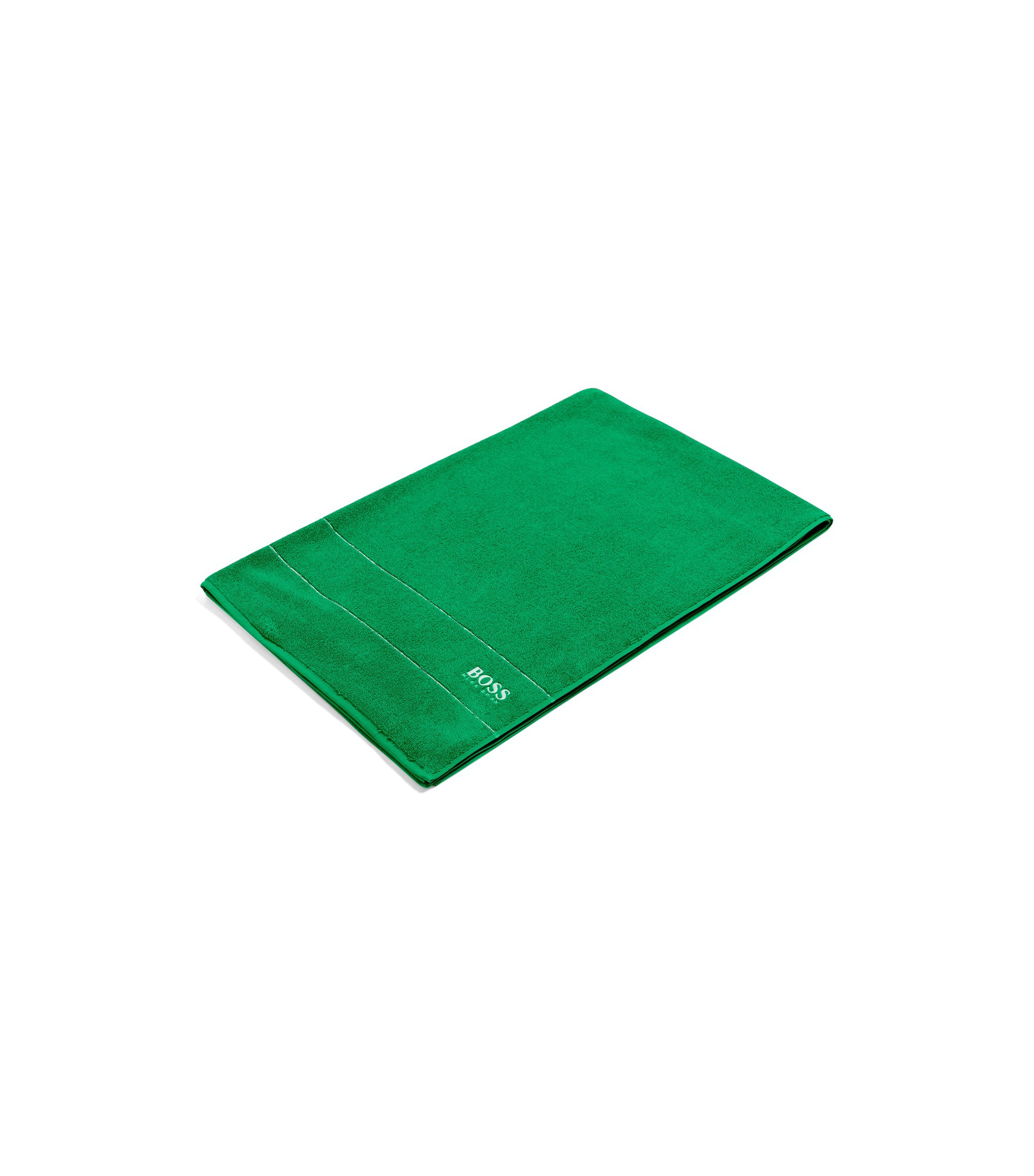 Badlaken van de fijnste Egyptische katoen met rand met logo, Groen