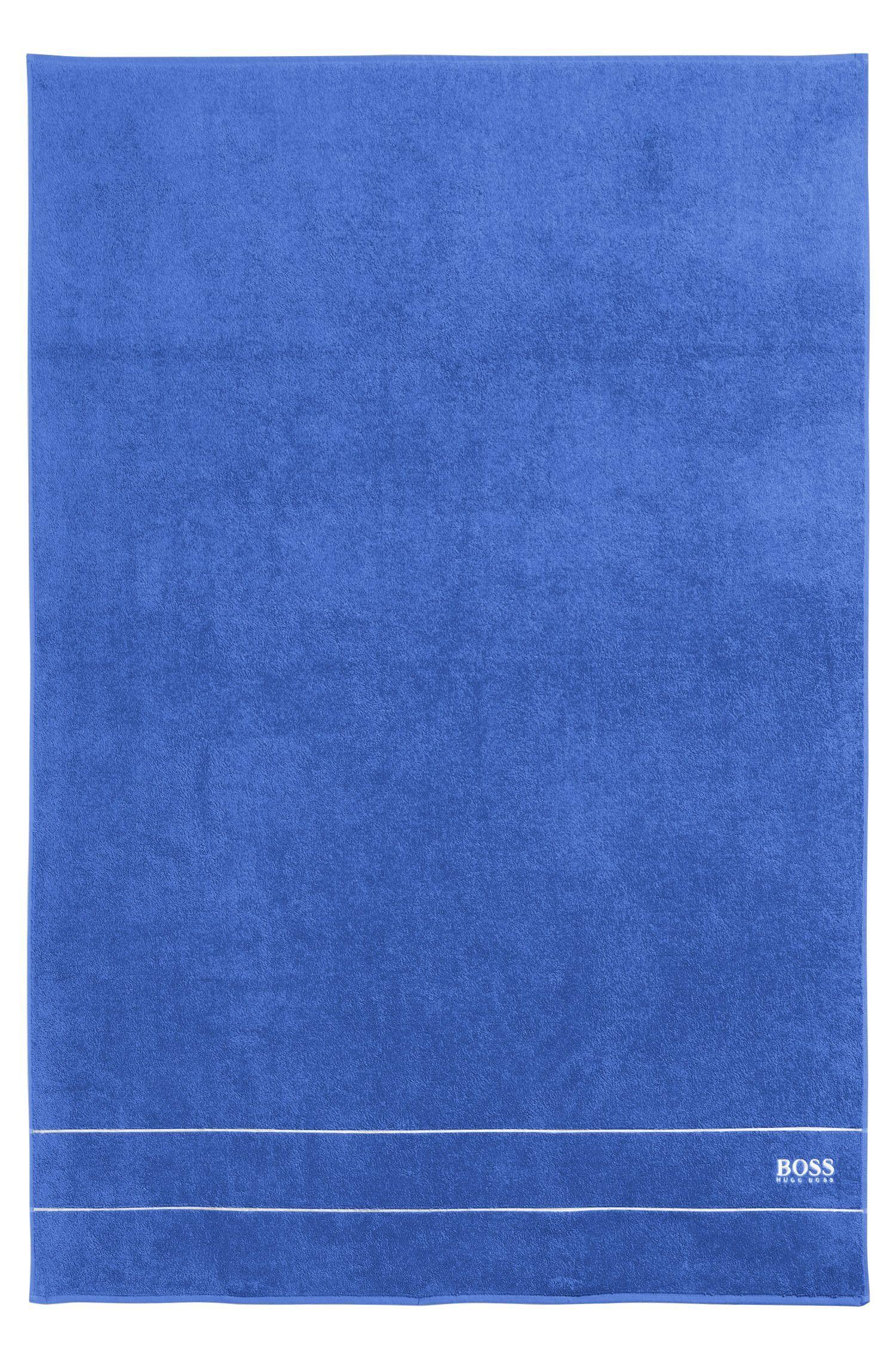Großes Badetuch aus feinster ägyptischer Baumwolle mit Logo-Bordüre, Blau
