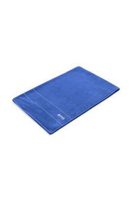 Toalla 'PLAIN' con logo en contraste, Azul
