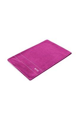 Finest Egyptian cotton bath sheet with logo border, Pink