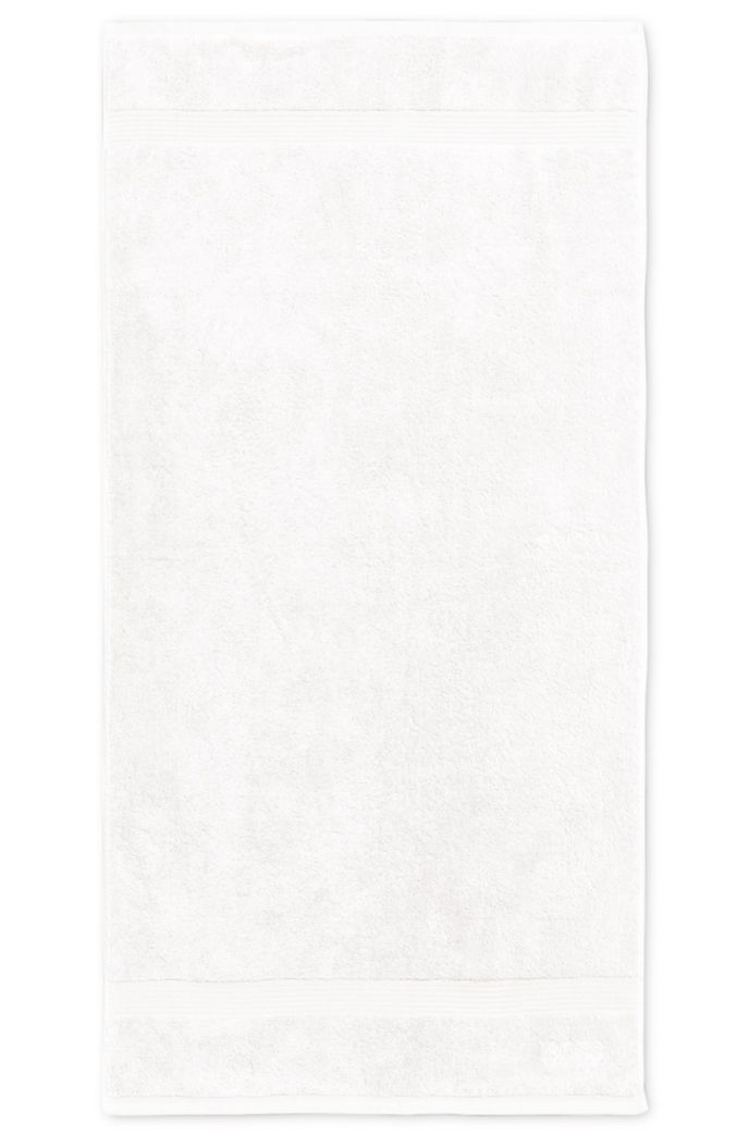 Badhanddoek van gekamde Egeïsche katoen met geribde rand