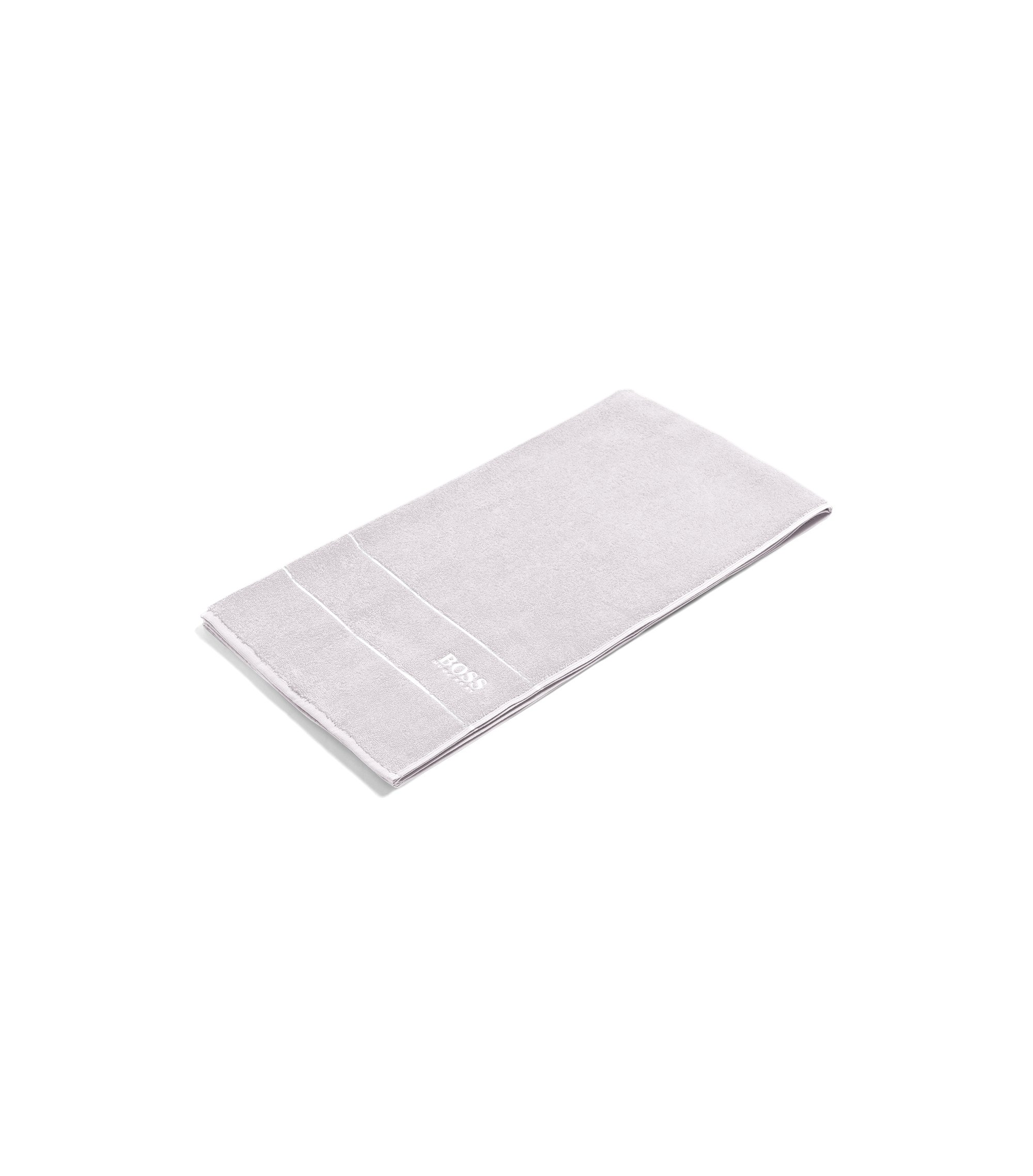 Finest Egyptian cotton bath towel with logo border, Silver
