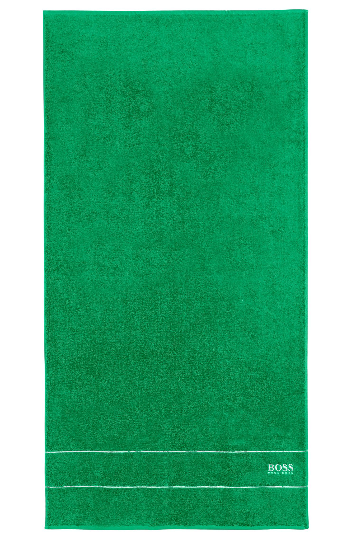 Finest Egyptian cotton bath towel with logo border