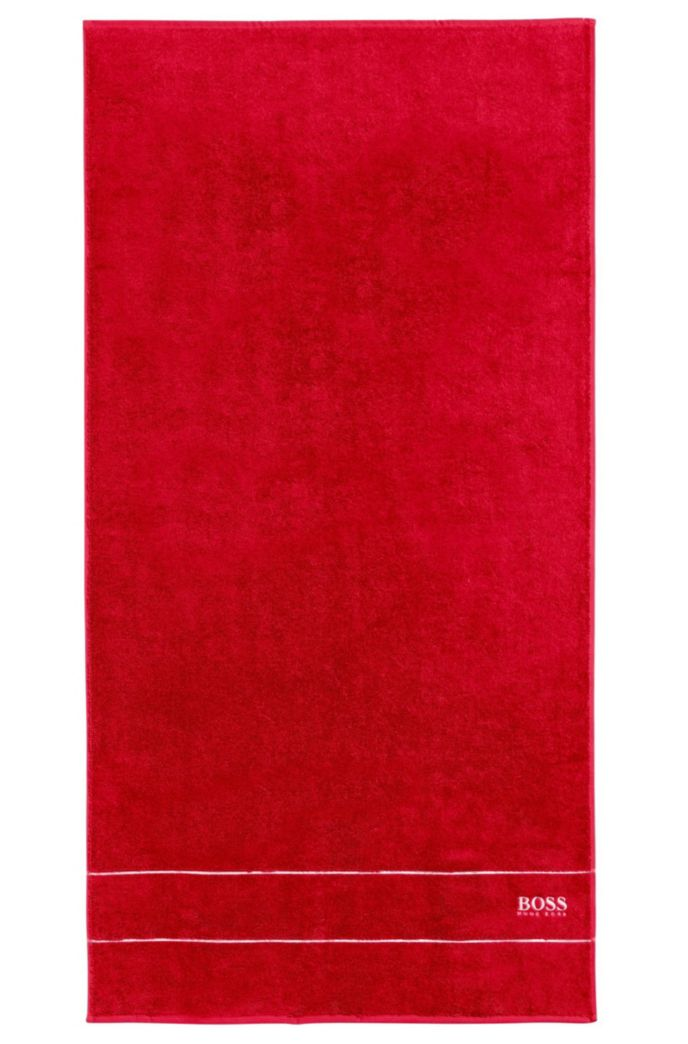 Badetuch aus feinster ägyptischer Baumwolle mit Logo-Bordüre