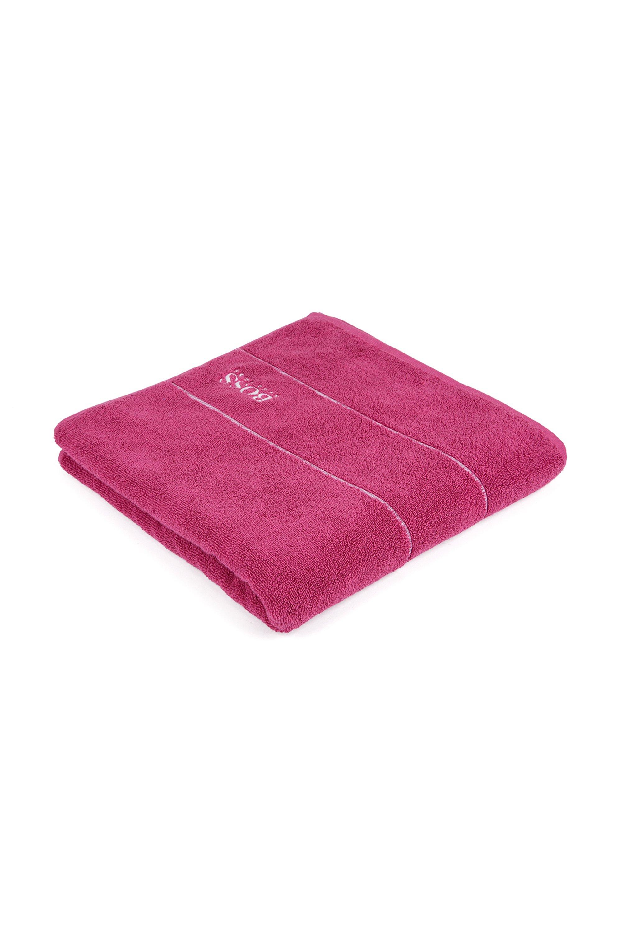 Badetuch aus feinster ägyptischer Baumwolle mit Logo-Bordüre, Pink