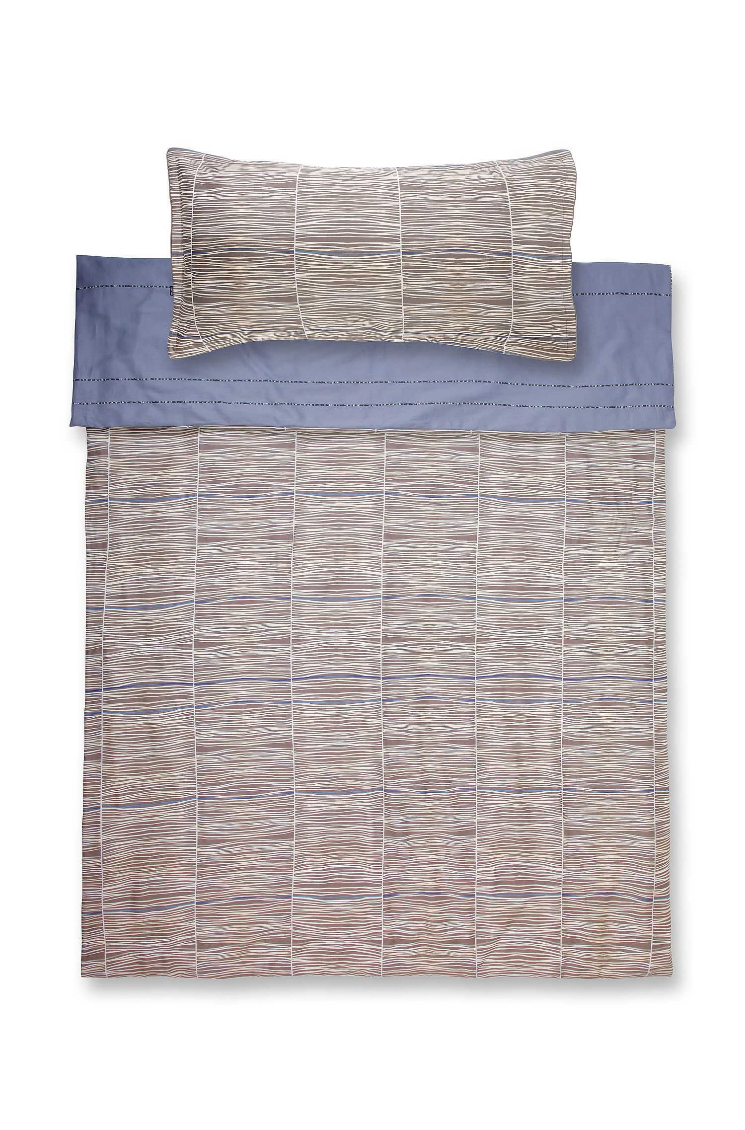 Duvet cover 'BLUESONG' in cotton satin, Light Brown